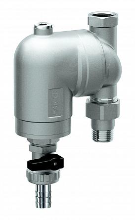 Купить Фильтр 100мкм, под манометр, Max: 95 °C, 25 бар. Поворотное соединение 1/2 ВР-, FAR