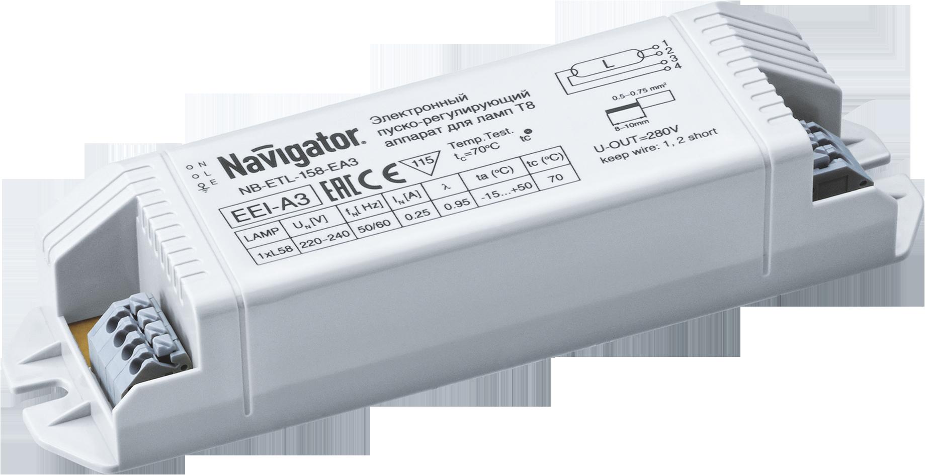 Купить Электронный пускорегулирующий аппарат (ЭПРА) 1х58Вт (ЛЛ-T8) Navigator