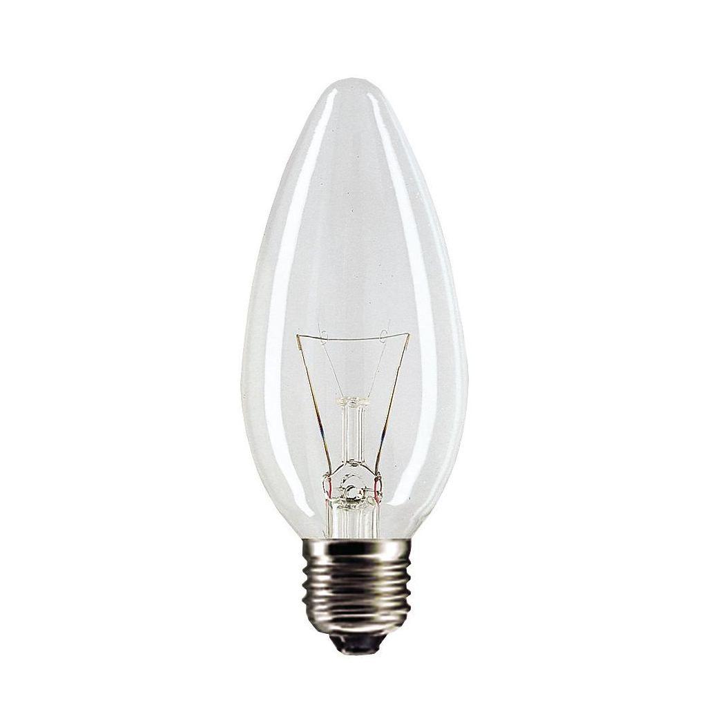 Купить Лампа накаливания Philips B35 40W 230V E27 CL.1CT/10X10F свеча, прозрачная