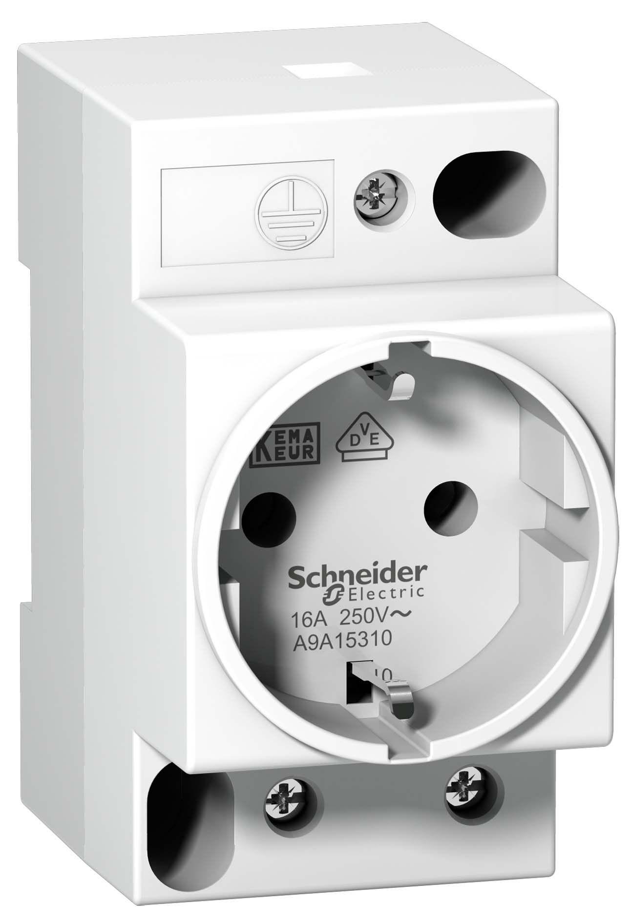 Розетка щитовая 2Р+N 16A на дин-рейку (Acti 9) Schneider Electric  - Купить