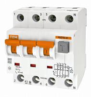 Купить Дифференциальный автомат 4-пол. 25А с 30мА 6кА АВДТ63 TDM АВДТ63, АВДТ64, TDM ELECTRIC