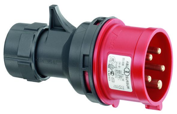 Вилка силовая переносная 3P+E 16A IP44 ABL SURSUM  - Купить