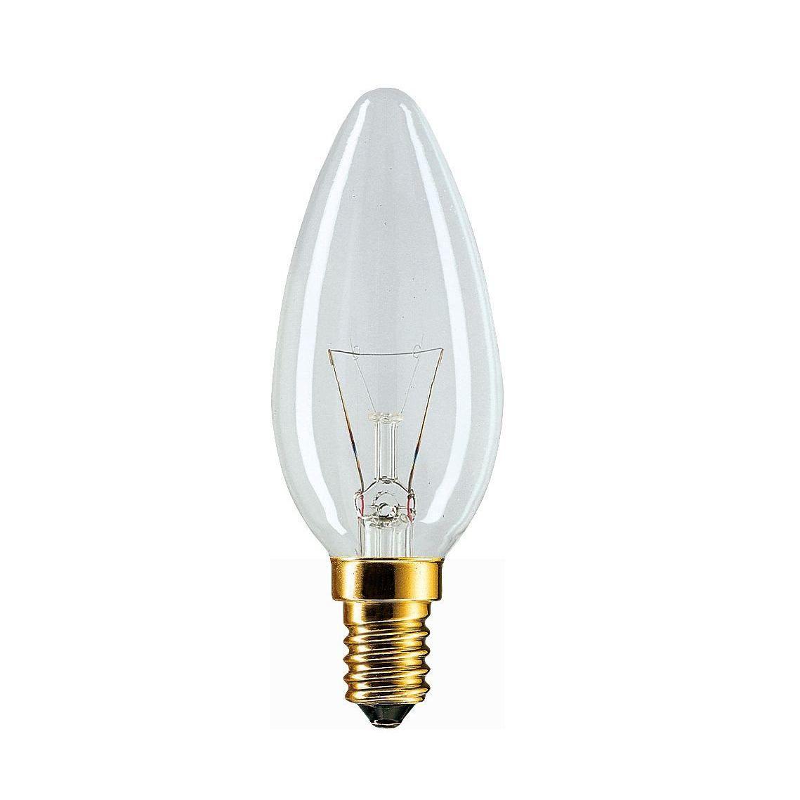 Купить Лампа накаливания Philips Stan 25W E14 230V B35 CL 1CT/10X10F свеча, прозрачная