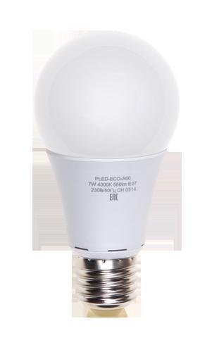 Купить Лампа светодиодная Jazzway PLED- ECO- A60 7w E27 3000K 580Lm 220V/ 7Вт теплый-бе