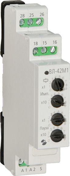 Купить Реле времени циклическое ВЛ-42М1, кат.24...220 В AC/DC, 6 диап., упр. вход, Реле и Автоматика
