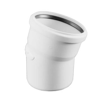 Купить Отвод 50х15° c резиновым сальником для канализационных REHAU 11210941001(121094-, Германия