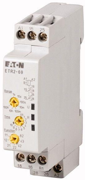 Купить Реле времени многофункциональное, 1 перекидной контакт, 24-240 В АС, 24-48 В DC., EATON