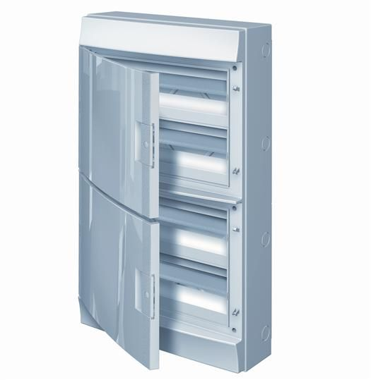 Купить Бокс настенный IP65 72М Mistral непрозрачная дверь 430x735x155 ABB