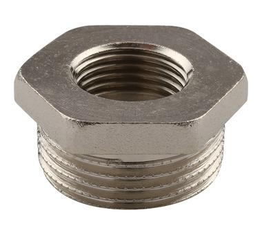 Купить Футорка НВ никелированная 1х1/2 для стальных труб резьбовой TIEMME 1500175(1581N, Италия