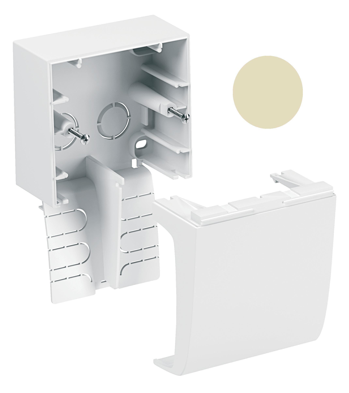 Купить Коробка одинарная бежевая с крышкой суппорта Schneider-Electric, Schneider Electric