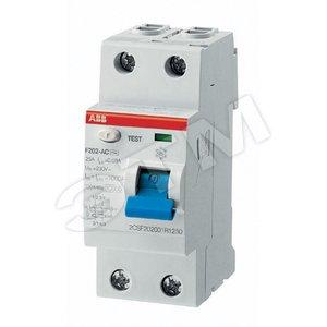 Купить Выключатель дифференциального тока (УЗО) 2п 63А 300мА F202 АС ABB, Италия