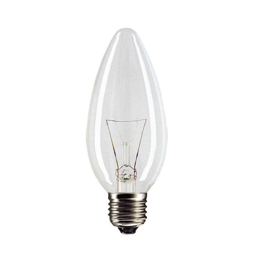 Купить Лампа накаливания Philips Stan 40W E27 230V B35 CL 1CT/10X10F свеча, прозрачная