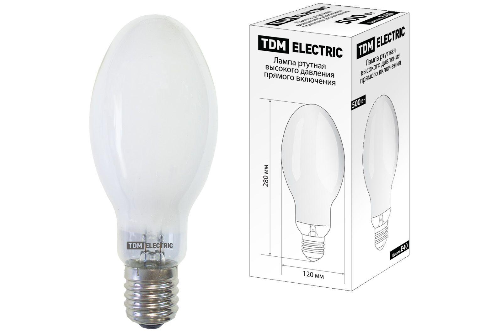 Купить Лампа ртутная TDM SQ0325-0021 500Вт Е40 230В прямого включения, TDM ELECTRIC