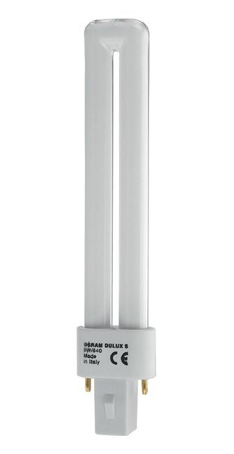 Купить Лампа люминесцентная Osram DULUX S 9W/827 G23 10X1 EN NCE 2-штыр G23 U 9Вт, ст, Osram Ledvance
