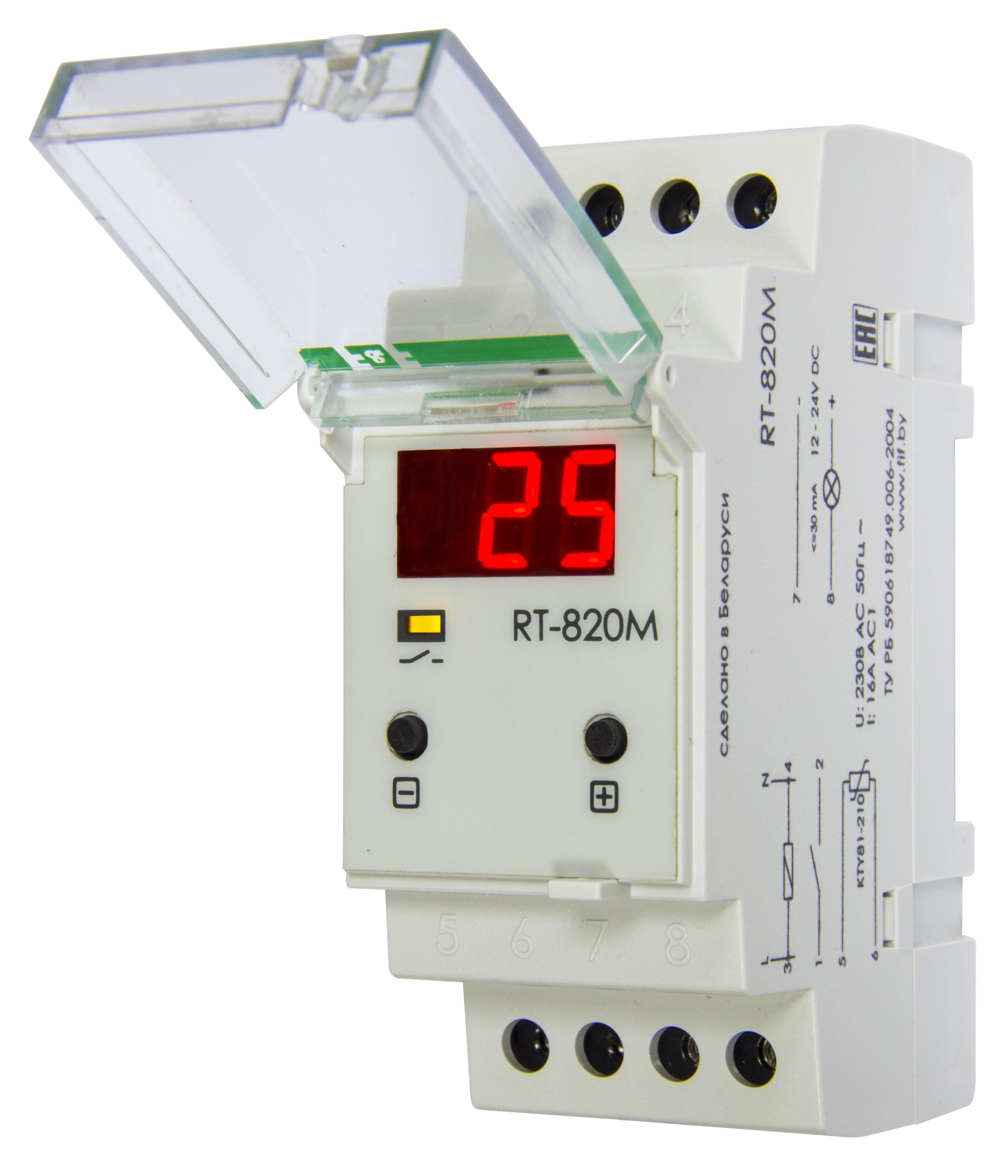 Купить Регулятор температуры RT-820 М (t от -20 до +130С), 230 В 50 Гц, Евроавтоматика ФиФ