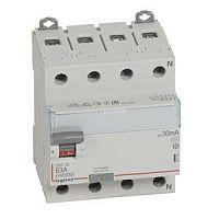 Купить Устройство защитного отключения 4-пол. 63А 30mA тип АС DX3 Legrand