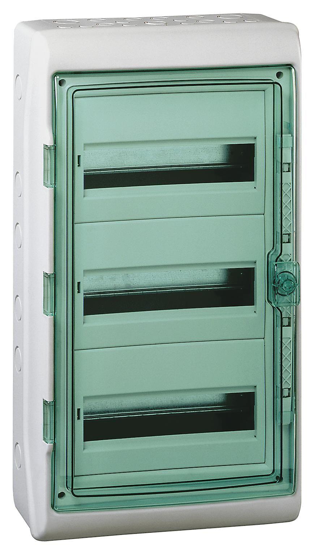Купить Бокс настенный IP65 3x12М с прозр. дверью (Kaedra), 610х340х160мм, с шиной PE Ka, Schneider Electric