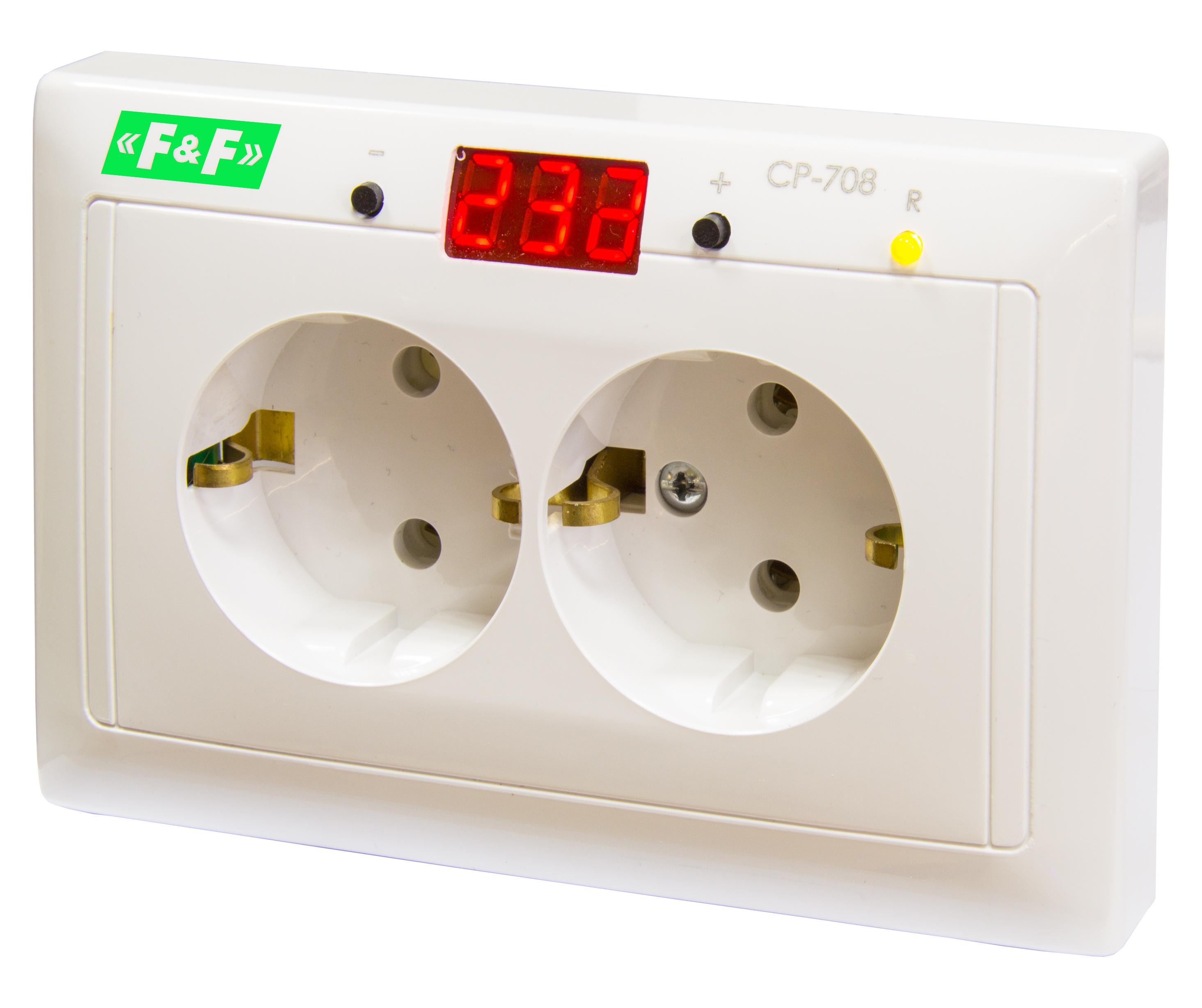 Купить Реле контроля 1-фаз. напряжения СР-708, 16А 150-300В АС 1NO (в монт. коробку) Ко, Евроавтоматика ФиФ