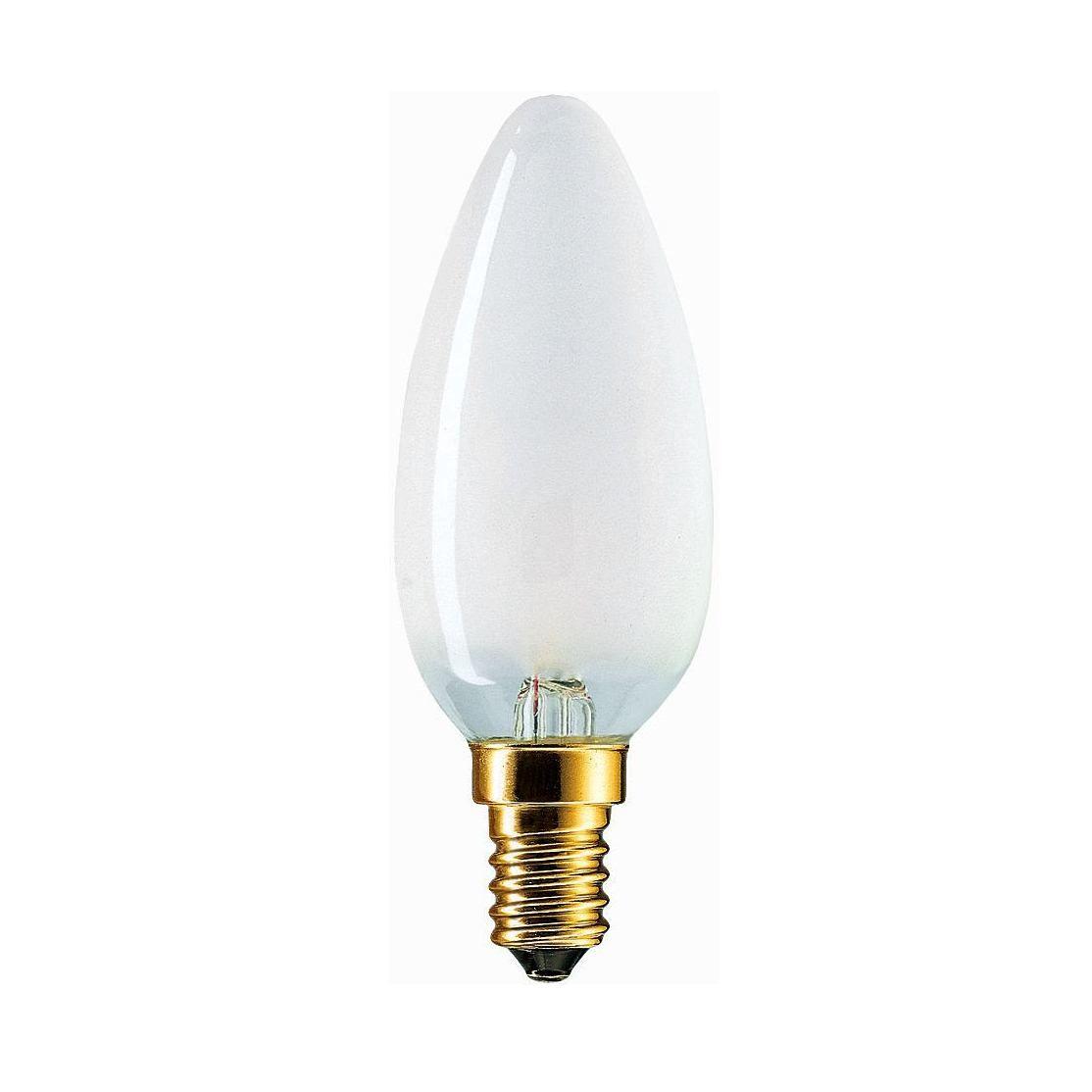 Купить Лампа накаливания Philips Stan 25W E14 230V B35 FR 1CT/10X10F свеча, матовая