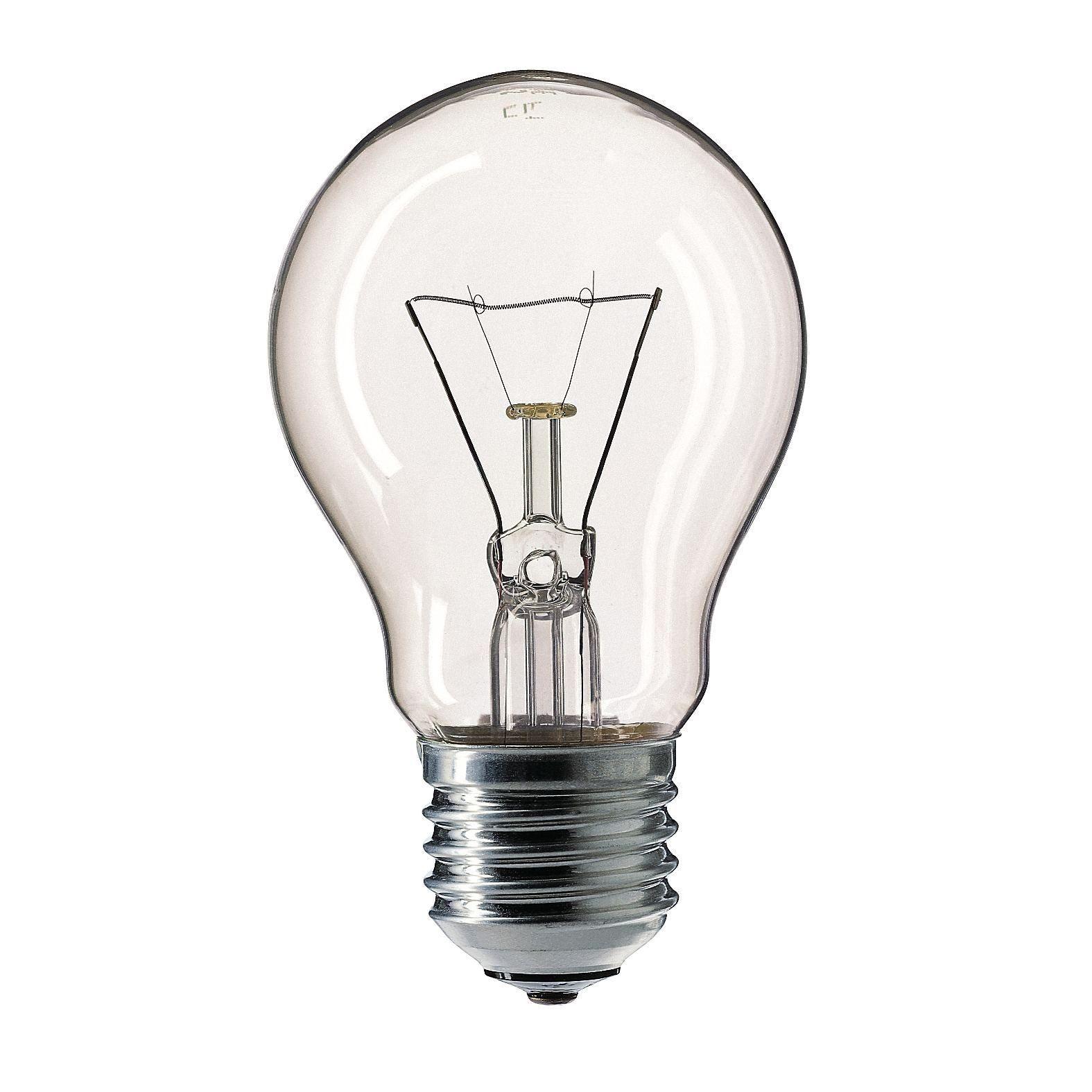 Купить Лампа накаливания Philips A55 75W 230V E27 CL.1CT/12X10F Pila прозрачная