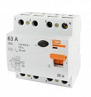 Купить Устройство защитного отключения 4-пол. 63А 30мА ВД1-63 TDM, TDM ELECTRIC