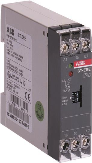 Купить Реле времени CT-ERE (задержка на включение) 220 B AC/24 B AC/DC 3-300сек. 1 ко, ABB