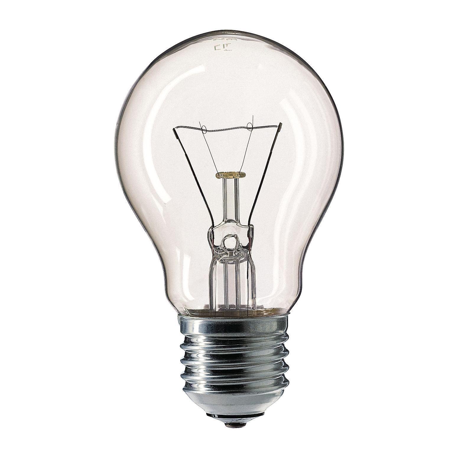 Купить Лампа накаливания Philips Stan 60W E27 230V A55 CL 1CT/12X10F прозрачная