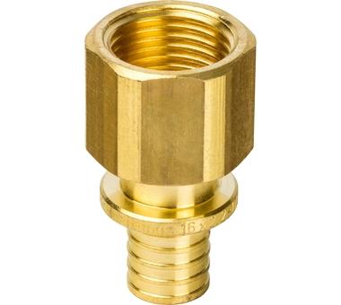Купить Переходник с внутренней резьбой 16xG 1/2 для труб из сшитого полиэтилена аксиал, STOUT, Италия