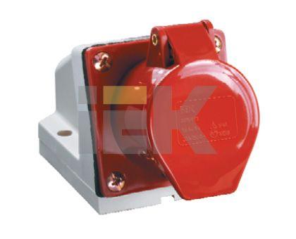 Купить Розетка для монтажа на поверхность 3P+E 32A IP44 124 силовая стационарная IEK, IEK (ИЭК)