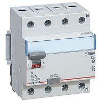 Купить Устройство защитного отключения 4-пол. 63А 300mA тип АС TX3 Legrand