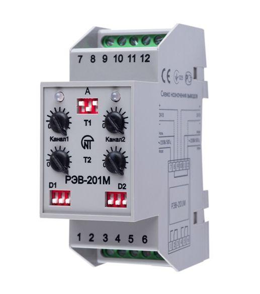 Купить Реле времени двухканальное РЭВ-201М (задержка на вкл. прогр.) 0-36000с 220В АС/2, Новатек-Электро