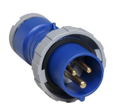 Вилка силовая переносная 2P+E 16A IP67 ABB  - Купить