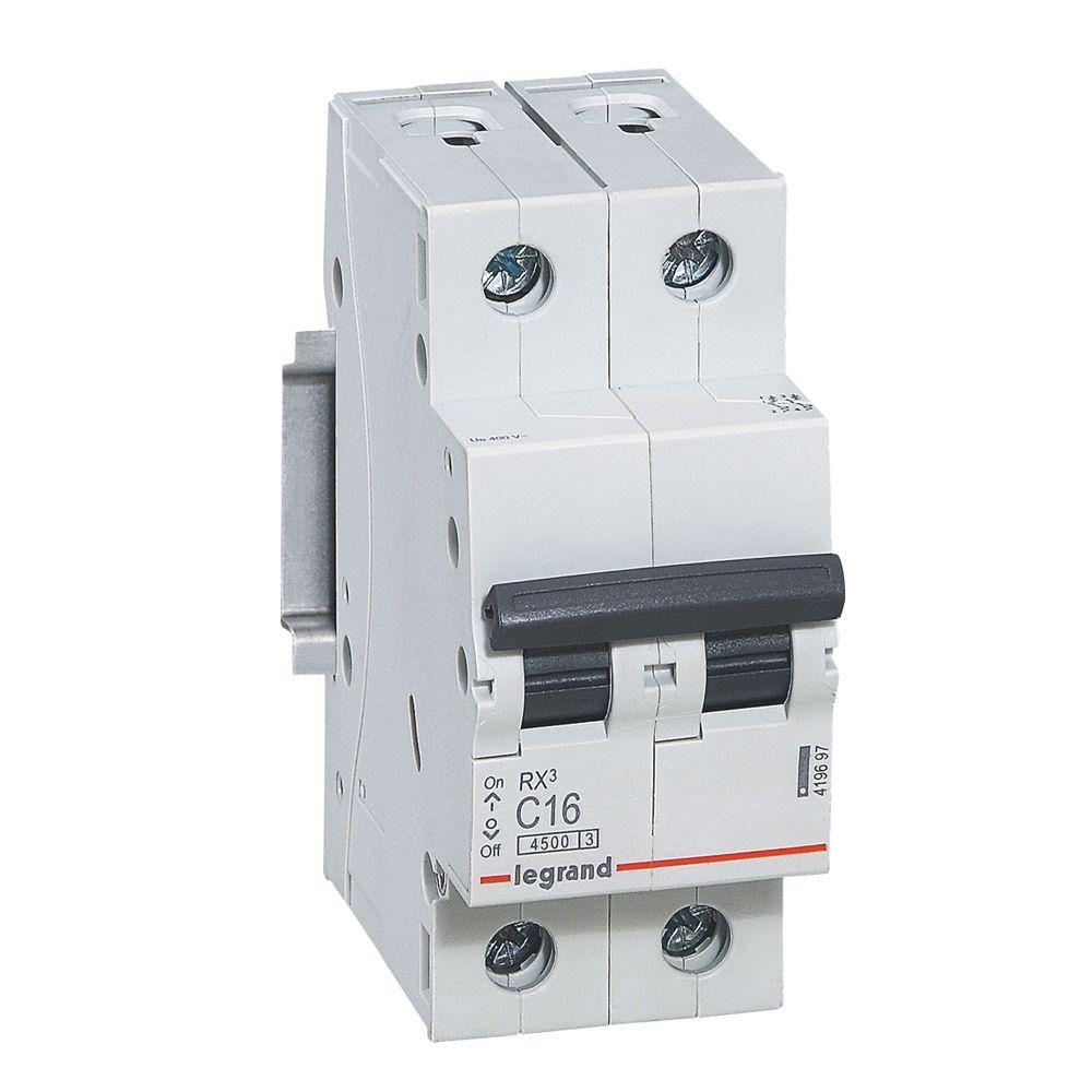 Купить Выключатель автоматический 4, 5кА 2 пол. 63А с RX3 Legrand RX3 4, 5кА