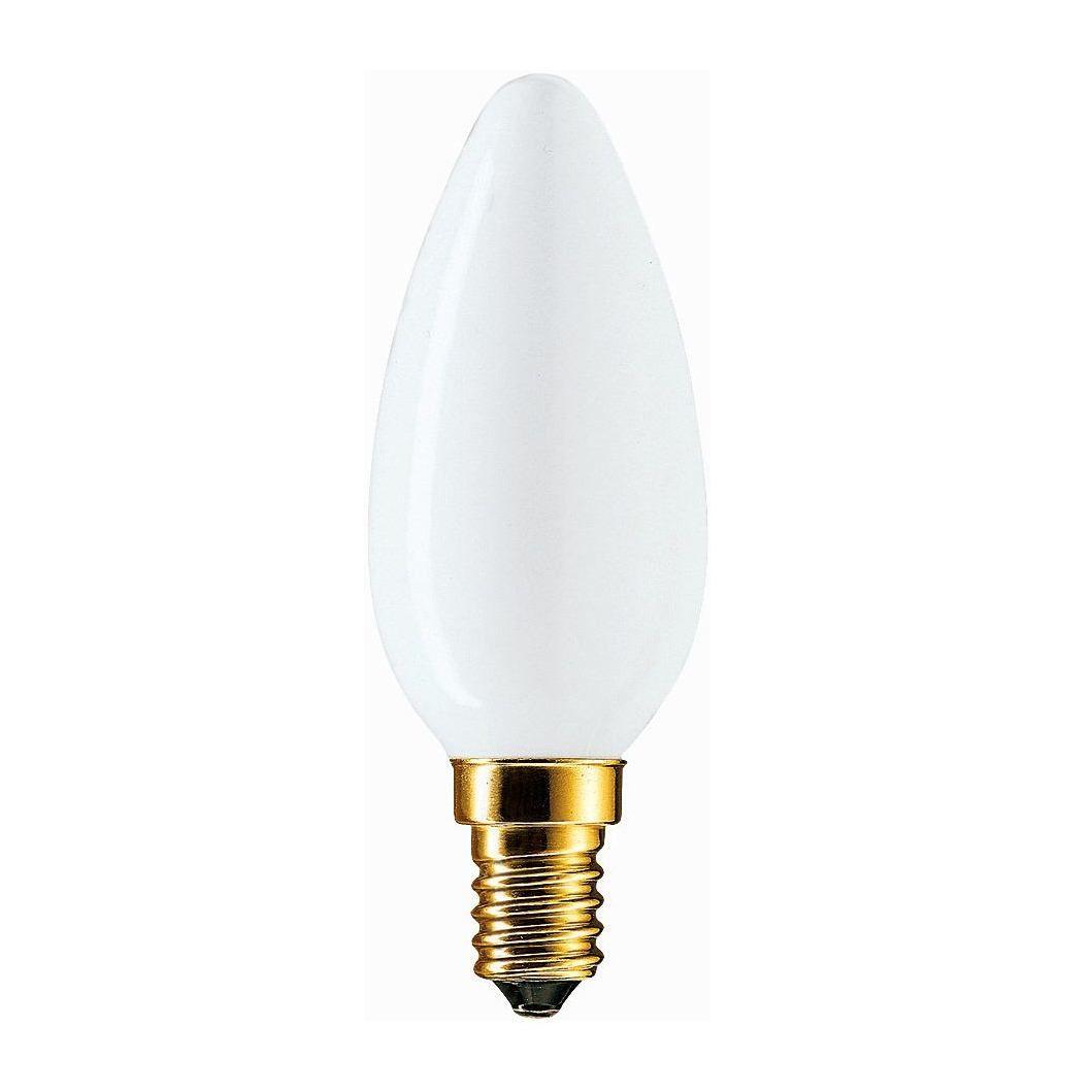 Лампа накаливания Philips Soft 60W E14 230V B35 WH 1CT/10X10F свеча опал  - Купить