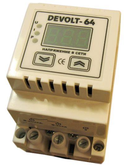 Купить Ограничитель мощности (с устройством защиты электроприборов) DEVOLT-64, 60А, 220, Вектор (Белгород)