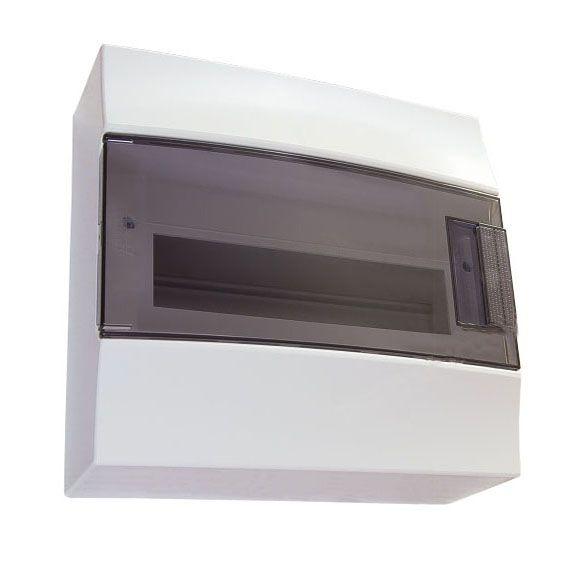 Купить Бокс настенный Mistral41 8М дымчатая дверь (с клеммами) 257х202х120 IP41 ABB