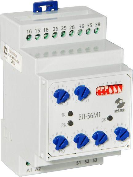 Купить Реле времени трехканальное ВЛ-56М1 (многофункциональное) 4 диапазона, 24...220 В, Реле и Автоматика