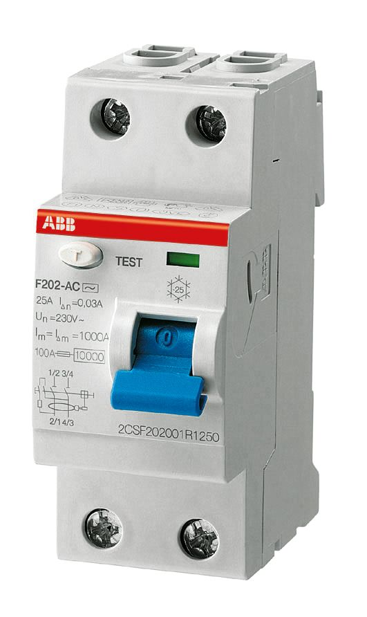 Купить Устройство защитного отключения 2-пол. 40A 30mA тип A ABB