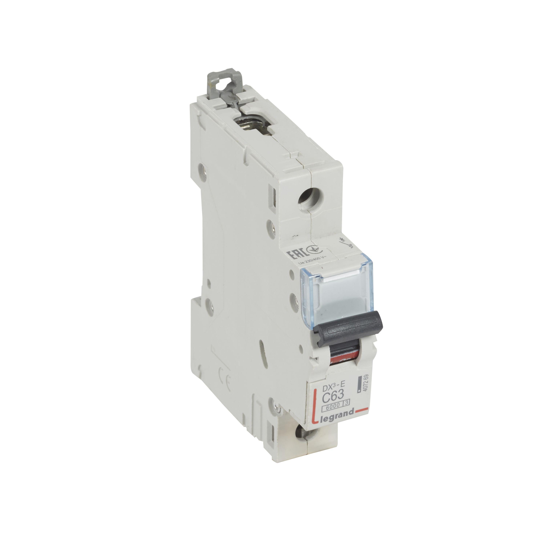 Купить Выключатель автоматический 1-пол. 63A с 6kA DX3-E Legrand DX3 6 kA с