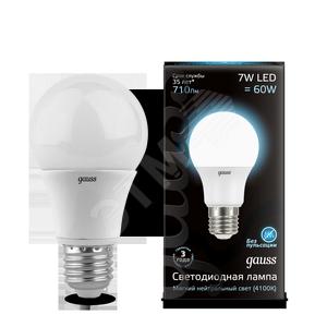Купить Лампа светодиодная LED 7вт 230в А60 Е27 белый Gauss, Китай