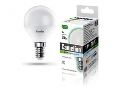 Купить Лампа светодиодная Camelion LED8-G45/845/E14 8Вт 230В холодный-белый матовая