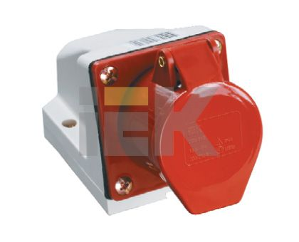 Купить Розетка для монтажа на поверхность 3P+N+E 16A IP44 115 силовая стационарная IEK, IEK (ИЭК)