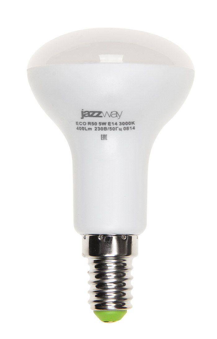 Купить Лампа светодиодная Jazzway PLED- ECO-R50 5w E14 3000K 400Lm 230V/50 теплый-белый