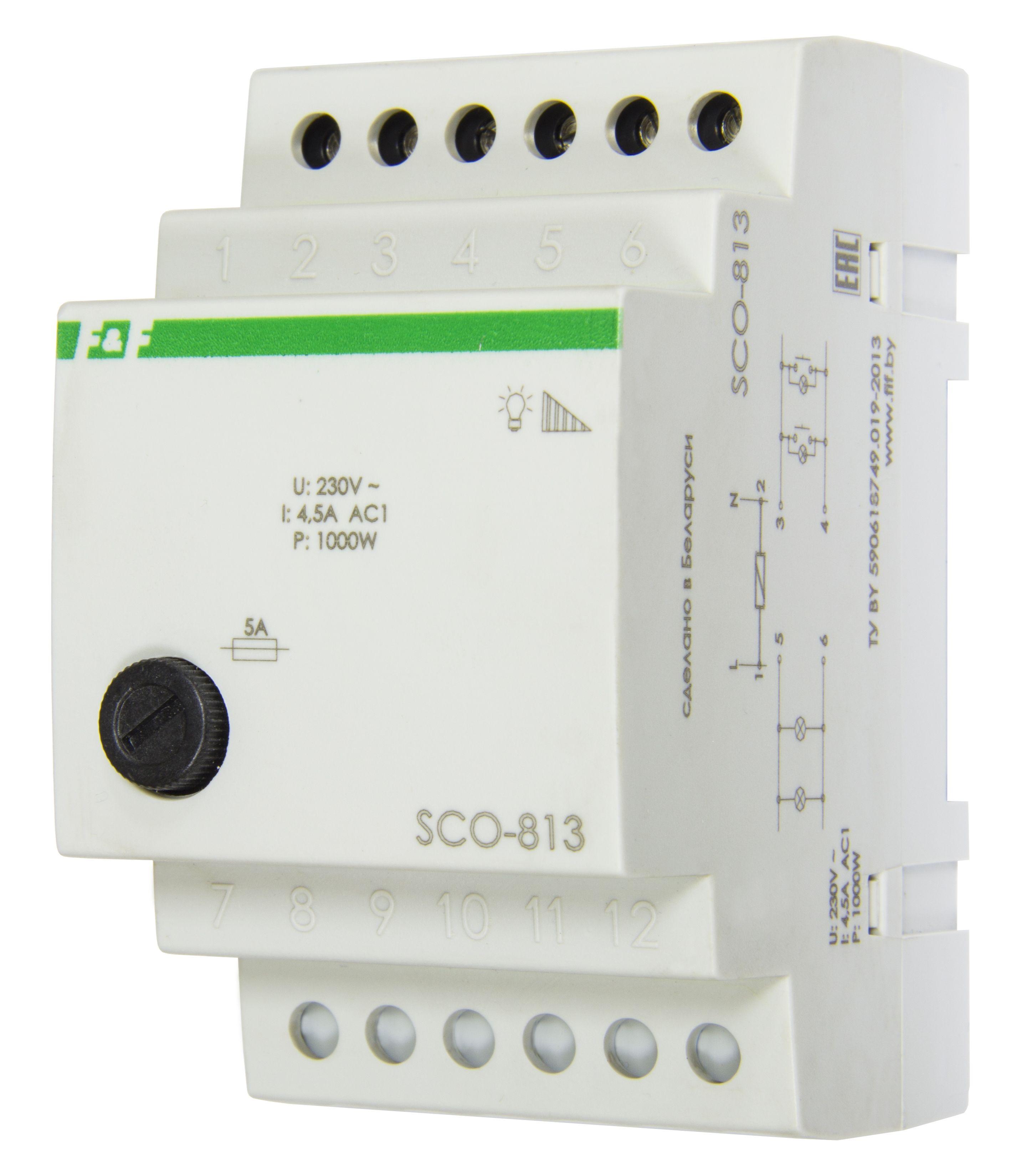 Регулятор освещения SCO-813 монтаж на DIN-рейке 35мм 4, 5А, 220В, Евроавтоматика ФиФ  - Купить