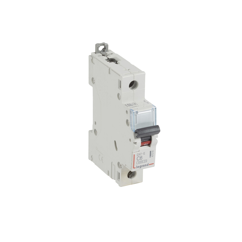 Выключатель автоматический 1-пол. 6A с 6kA DX3-E Legrand DX3 6 kA, C  - Купить