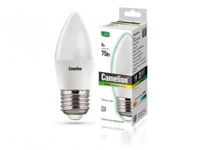 Купить Лампа светодиодная Camelion LED8-C35/830/E27 8Вт 230В свеча теплый-белый