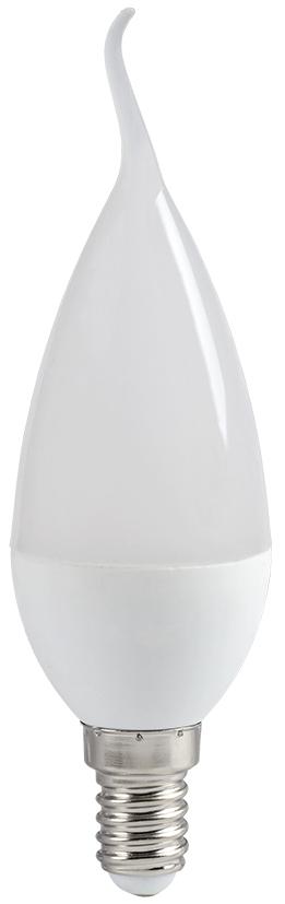 Лампа светодиодная IEK ECO LLE-CB35-7-230-40-E14 7Вт 230В свеча на ветру, нейтра, IEK (ИЭК)  - Купить