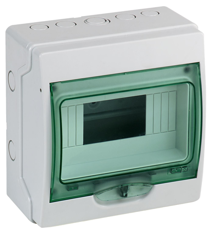 Купить Бокс настенный IP65 8М с прозр. дверью (Mini Kaedra), 200х195х112мм Schneider El, Schneider Electric
