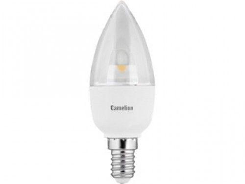Купить Лампа светодиодная Camelion LED5.5-C35-CL/830/E14 5.5Вт 230В свеча теплый-белый