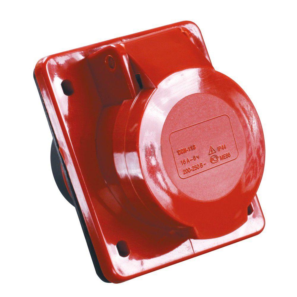 Купить Розетка панельная 3P+N+E 32A IP44 425 MAGNUM IEK силовая фл. монтажа, IEK (ИЭК)